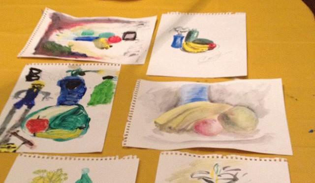 Nadia's art class